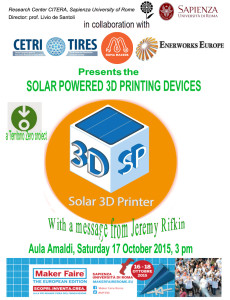 Invitation Solar 3D printer